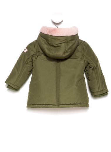 DeFacto Kız Bebek İçi Yünlü Mont Yeşil